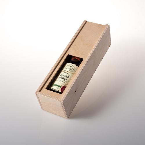 Dárková dřevěná krabice na 1 láhev, Dobré vinařství 1ks