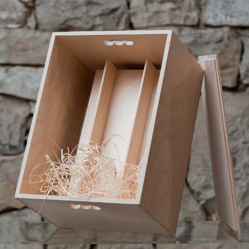 Dárková dřevěná krabice na 6 láhví, Dobré vinařství 1ks
