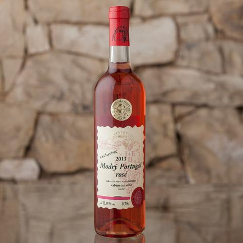 Modrý Portugal Rosé Exclusive kabinetní 2013, Vinařství Buchtovi, Velké Pavlovice 0,75l
