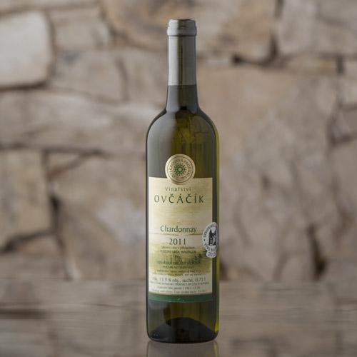 Chardonnay pozdní sběr, barrique 2011, Vinařství Ovčáčík, Velehrad 0,75l