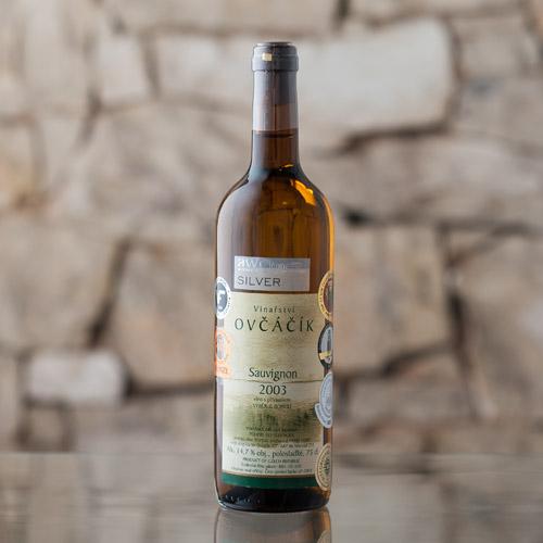 Sauvignon výběr z bobulí 2003, Vinařství Ovčáčík, Velehrad 0,75l