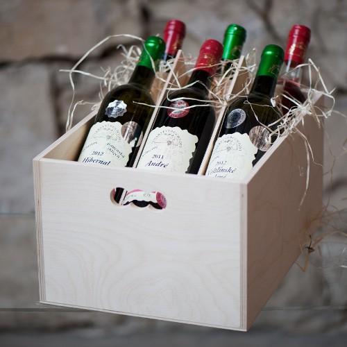 Medailová kolekce 6 oceněných vín v dárkovém balení, Dobré vinařství 0,75l;0,375l