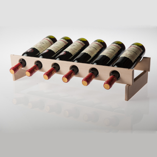 Stojan na víno z bukového dřeva (stavebnice), Dobré vinařství 1ks