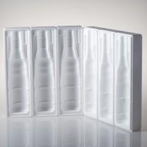 Polystyrenový obal na víno - 3 láhve