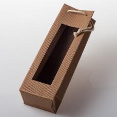 Taška z vlnité lepenky na 1 láhev